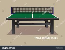 Wooden Table Background Vector Vector Illustration Green Wooden Table Tennis Stock Vector