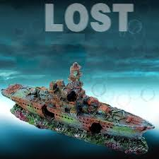 aliexpress buy resin damaged navy war boat ship wreck fish