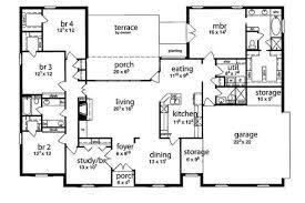 single story 5 bedroom house plans floor plan 5 bedrooms single story five bedroom tudor big 5