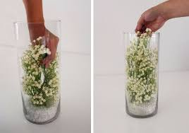 silk baby s breath diy baby s breath submersible centerpiece afloral