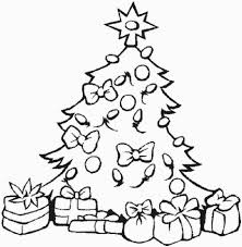 christmas tree clipart present coloring page pencil and in color