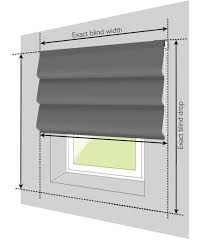 guide to measuring your roman blinds