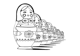 russian dolls perspective russian dolls coloring pages for
