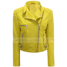 yellow motorcycle jacket yellow leather jacket
