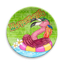 margaritaville cartoon icon animated plate set of 4 margaritaville apparel store