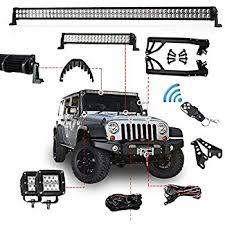 led light bar jeep wrangler amazon com turbo sii jeep wrangler jk 07 15 300w led light bar