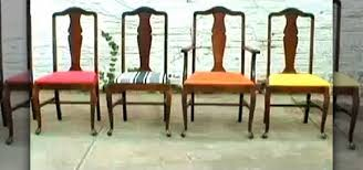 How To Upholster A Dining Room Chair How To Re Upholster Vintage Dining Room Chairs Construction