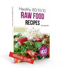 healthy 80 10 10 raw food recipes ebook fruitylou
