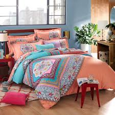 bedroom beautiful bohemian comforter with luxury colors for