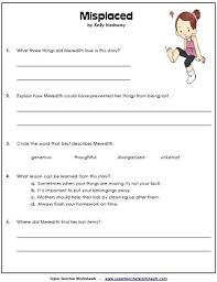 reading comprehension 4th grade worksheets