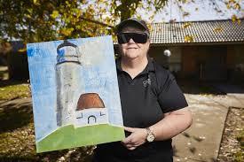 Carol Blind Deaf Blind Artist Finds Comfort In Paint Work The Courier