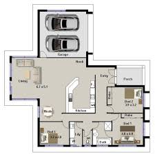 3 Bedroom Cabin Plans Beautiful 3 Bedroom Cottage Plans For Hall Kitchen Bedroom