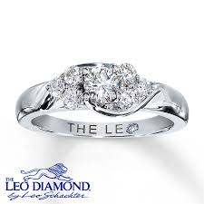 leo engagement rings leo ring 5 8 ct tw cut 14k white gold