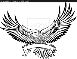 vector illustration of eagle emblem vector yayimages com