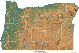 oregon county map oregon physical map and oregon topographic map