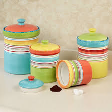 kitchen canisters and jars mariachi striped colorful kitchen canister set