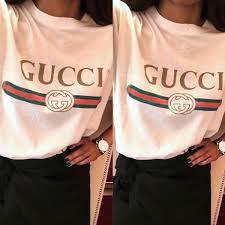gucci logo t shirt symphony of silk