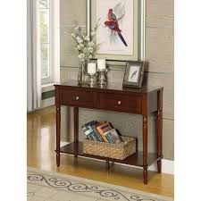 convenience concepts french country espresso 2 drawer hall table