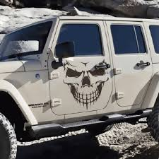 jeep windshield stickers novel scary cool skull skeleton pattern car engine cover sales