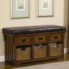 entryway bench with baskets and cushions amazing bench entryway storage bench with baskets shoe mudroom