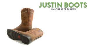 justin boots stampede cowboy boots 10 u201d square toe for men