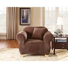 Sure Fit Club Chair Slipcovers Sure Fit Stretch Pique Wing Chair Recliner Slipcover Hayneedle