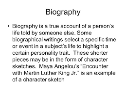 literary terms autobiography an autobiography is an account of a