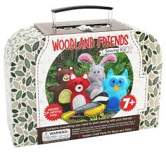 amazon com craftster u0027s sewing kits woodland animals craft