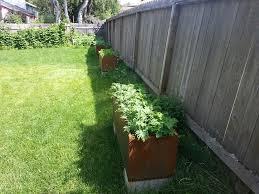 Corten Steel Planter by Growing Herbs And Vegetables In Corten Planters U2013 Nice Planter Llc