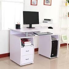 pc bureau multimedia meuble ordinateur blanc laque bureau multimedia meuble