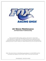 fox racing shock air sleeve maintenance mechanical engineering