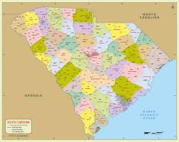 Zip Code Boundary Map Buy South Carolina Zip Code Map With Counties