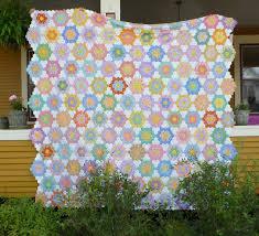 flower garden quilt pattern sewn flower garden finish