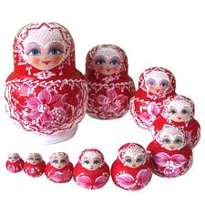 aliexpress com buy 10pcs wooden matryoshka doll pink wooden