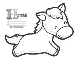 horse coloring pictures kids
