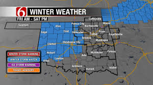 Tulsa Map Ne Oklahoma Added To Winter Storm Watch Newson6 Com Tulsa Ok