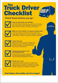 transportation safety poster the truck driver checklist safety