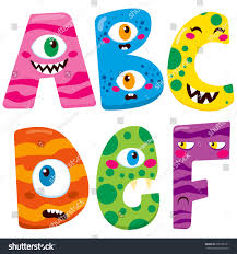 Cute Halloween Monsters by Funny Halloween Alphabet Cute B C Stock Vector 298765151