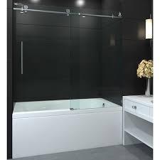 Sliding Tub Shower Doors Aston Moselle 60 X 60 Single Sliding Completely Frameless Tub