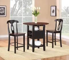 dining room 3 piece white dining set with storage wayne home decor