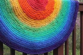 5ft Round Rug by Round Rug Rainbow Round Rag Area Rug Recycled T Shirt And