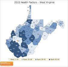 Map Of Wv West Virginia Rankings Data County Health Rankings U0026 Roadmaps