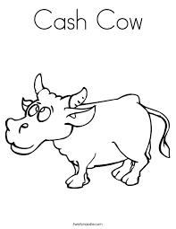 cash cow coloring page twisty noodle