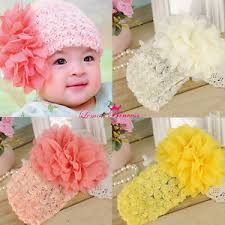 big flower headbands lace toddler big flower headbands baby hair band kids hairnet girl