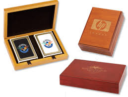 customized cards in wooden boxes print your company logo