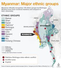 Map Burma Myanmar Major Ethnic Groups And Where They Live Myanmar Al