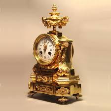Mantel Clocks Antique Small Antique French Ormolu Striking Mantel Clock For Sale
