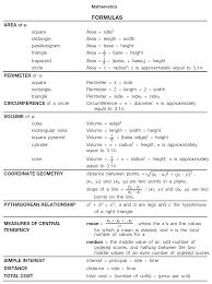 ged math test formulas math 4 ged