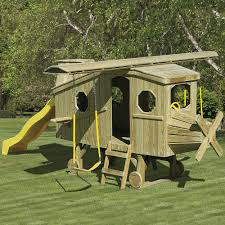 outdoor playset in solid wood with swing set and slide backyard