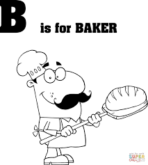letter b is for baker coloring page free printable coloring pages